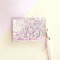 [클리어런스] 클루 에뜨왈 피치 블라썸 벚꽃 카드지갑 (핑크)