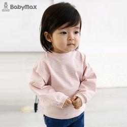 마카롱 가오리핏 스트라이프 유아 티셔츠T172