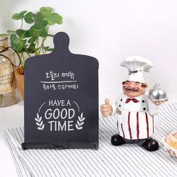 프렌치 요리사 미니어처 + 칠판