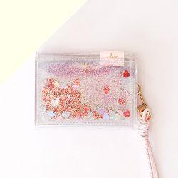 [클리어런스] 클루 에뜨왈 피치 블라썸 벚꽃 카드지갑 (레드)