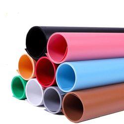 PVC 촬영 배경지 중형 블랙 화이트 (68x130cm)