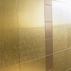 더 커진 정사각 스테인레스 타일 - 골드 30 x 30cm