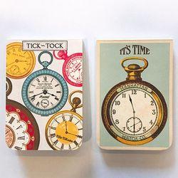포켓노트-vintage clock