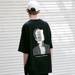매스노운 어피어런스 오버 반팔 티셔츠 MSETS003-BK