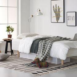 하임투인원(2in1)독립스프링 일체형 싱글(S)침대+커버