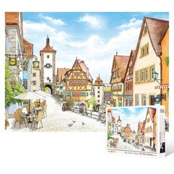 500피스 직소퍼즐  독일 로텐부르크 인형의 마을