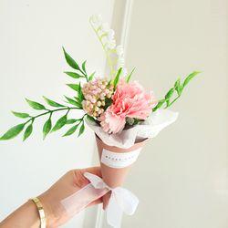 한송이 카네이션 미니꽃다발-핑크