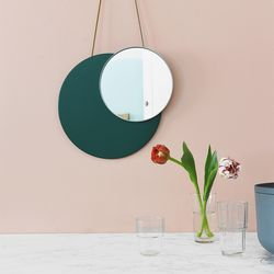MOON MIRROR(GREEN) - ON THE WALL