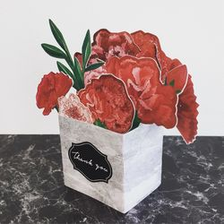pp popup card - carnation
