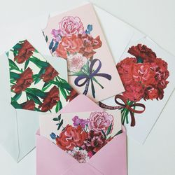 PP POSTCARD SET(봉투포함) -a buch of flowers