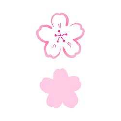 블랭코 스텐실도안707 벚꽃송이