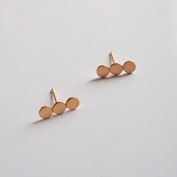 14k gold cloud earring