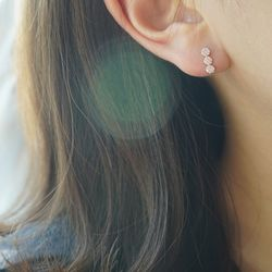 14k gold cubic cloud earring