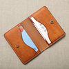 핸드메이드 가죽 심플 카드 명함 지갑(각인추가)