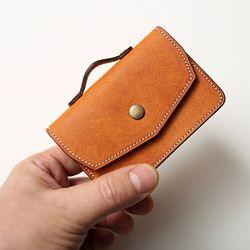 핸드메이드 가죽 명함 카드 케이스(각인추가)