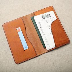 핸드메이드 가죽 여권 노트 커버