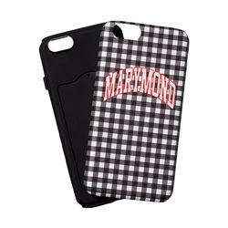 범퍼케이스 심플체크 복숭아(블랙) 아이폰6&6S