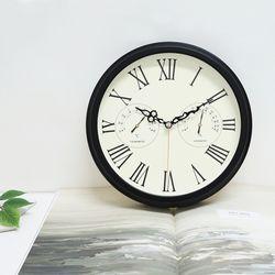 [시우아트]엔틱로만온습도벽시계