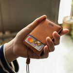 핸드메이드 가죽 목걸이 카드 지갑(각인추가)