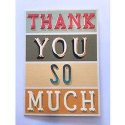 카드-Thank you typography
