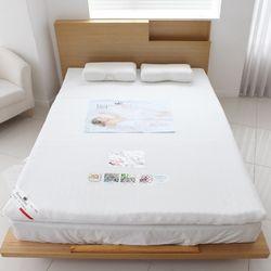 편안한 알로에 메모리폼 토퍼 바닥 요 침대 패드(Q)