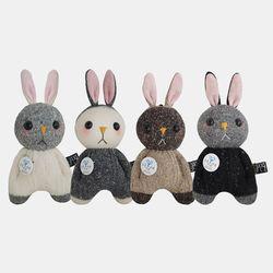 [DIY]토끼 양말인형 만들기(삑삑이키링 4가지)