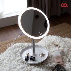 오아 LED써클 조명 화장거울 탁상거울 무선조명