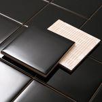 모던 블랙타일 유광 (100x100)