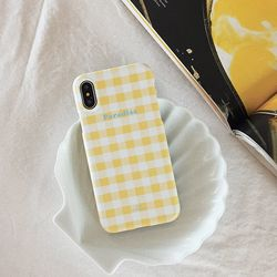 GINGHAM CHECK Phone case - Paradise