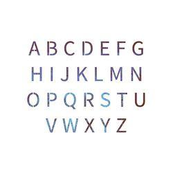 블랭코 스텐실도안403 알파벳 대문자(A5)