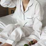 white line pajamas