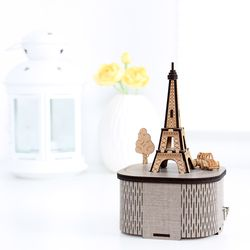 DIY회전 우드 오르골 - 파리 에펠탑(YM-955)