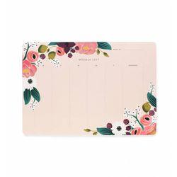 Pink Floral Weekly Deskpad