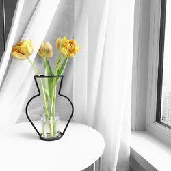 해외 Nude Vase (H200) + Glass Vase