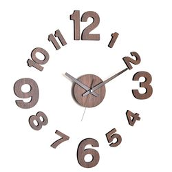 못없이 붙이는시계 아미공벽시계 DIY 모던우드