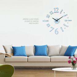 인테리어벽시계 무소음 DIY시계 클래식 파스텔블루