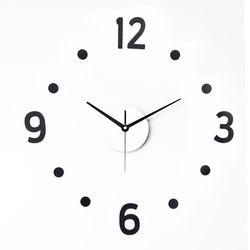 못없이 붙이는 심플인테리어 DIY벽시계 도트 진주펄BL