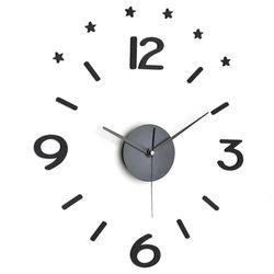 예쁜방 인테리어시계 DIY 붙이는 무소음시계 시크블랙