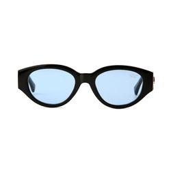 D.fox Original Glossy Black Blue Tint Lens