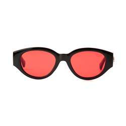 D.fox Original Glossy Black Red Tint Lens