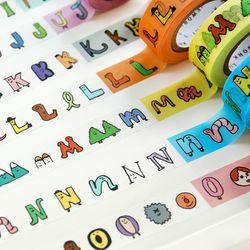 jam jam alphabet PAPER TAPE (A-N) 마스킹테이프