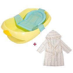 오리 캐릭터 아기욕조 목욕가운세트