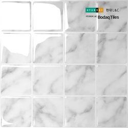 [보닥타일]손쉽게 붙이는 보닥타일 빅스퀘어 마블화이트