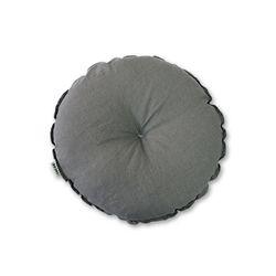 린넨 원형방석 gray