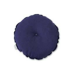 린넨 원형방석 purple