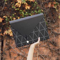 서류 정리 가방 13포켓 (블랙)