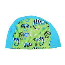 UPF50  유아용 수영모자 그린게코