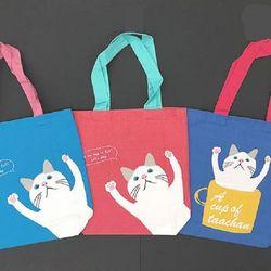 타챤 고양이 컬러 에코백 (3color)
