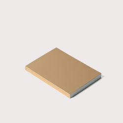 골드노트 B7 size Gold Plain Notebook