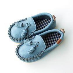 오엘로 로퍼 스카이블루 아기 신발 구두 걸음마신발 여아 아동화